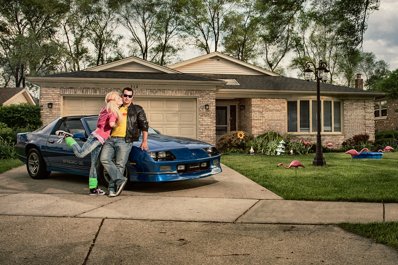 80s Engagement Session