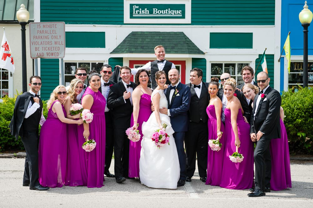Bridal party downtown long grove