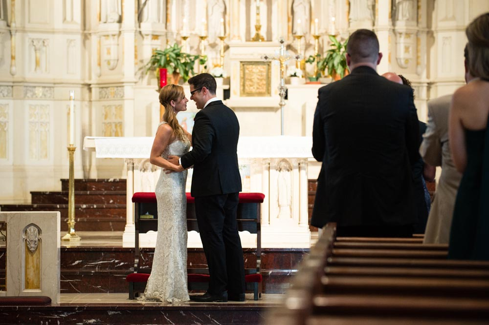 wedding ceremony at St. Alphonsus