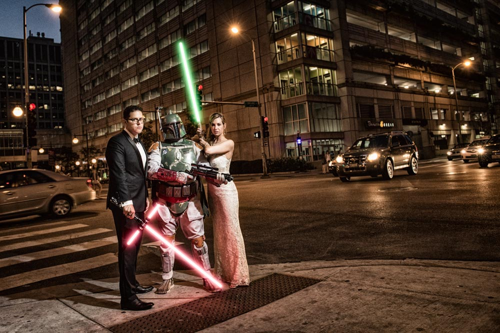 Star Wars Boba Fett wedding in Chicago