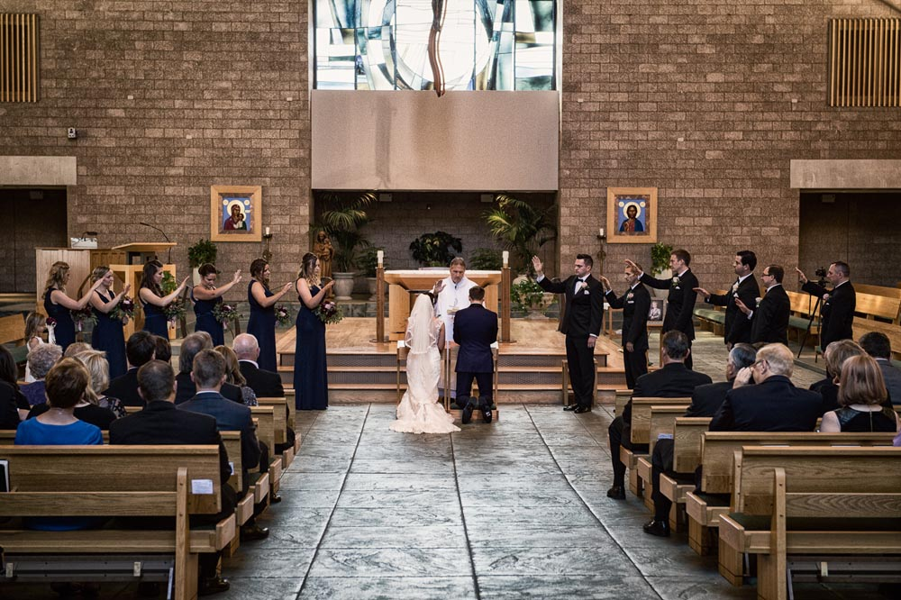 St. Charles Catholic wedding ceremony