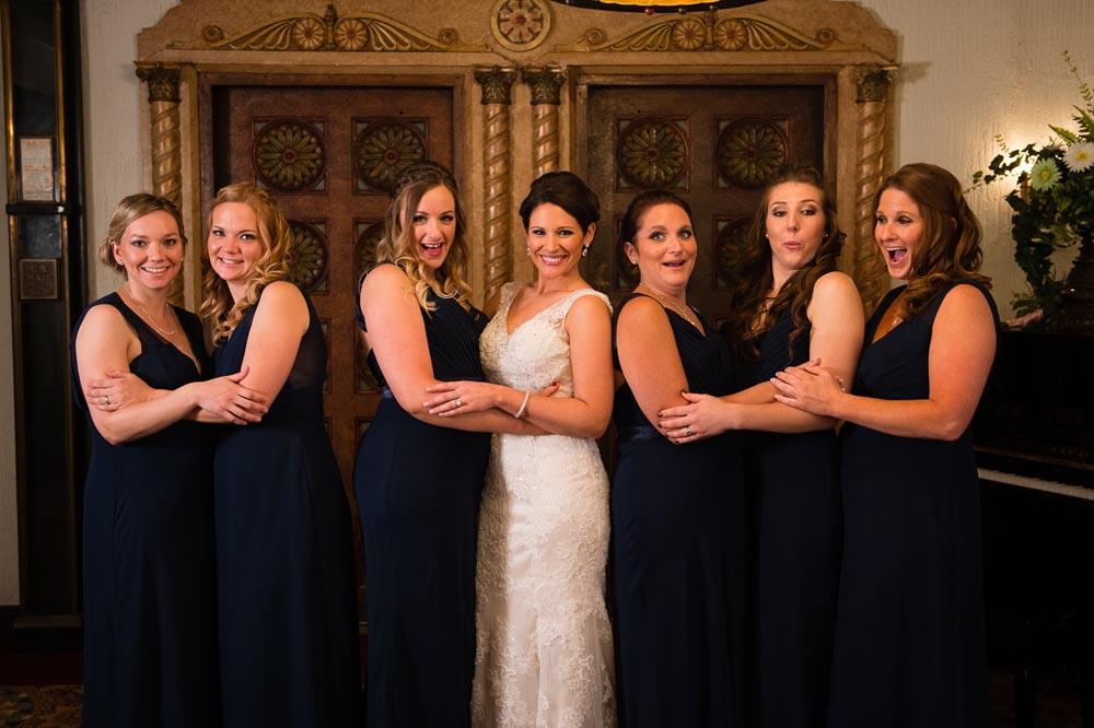 Bridesmaids portrait at Hotel Baker