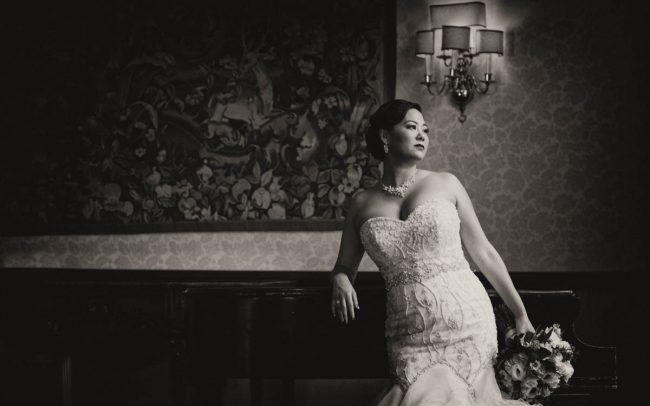 Michigan Shores bridal portrait
