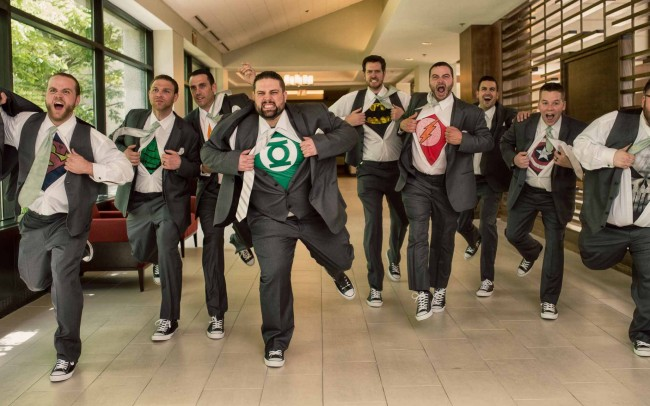 Superhero groomsmen t-shirts