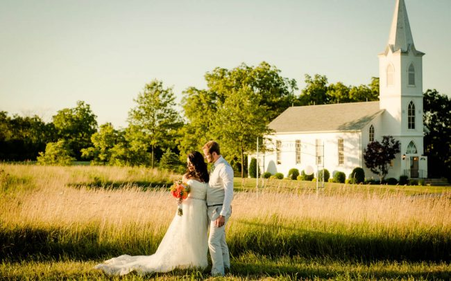 Oak Hill Farm sunset wedding