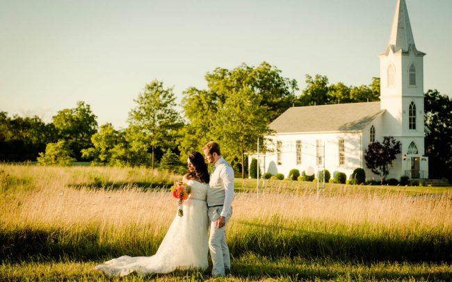 Oak Hill Farm sunset wedding