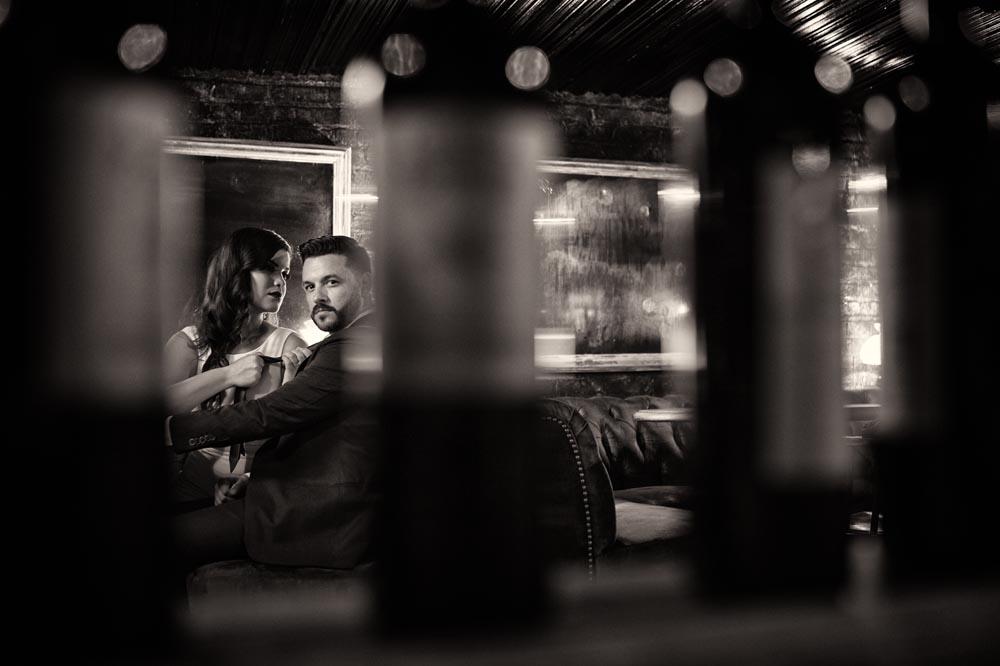 Gilt Bar engagement through bottles