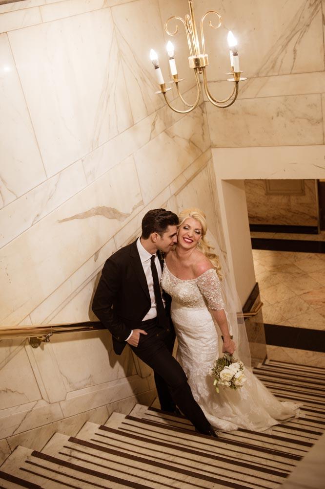Wedding day portrait at Congress Hotel