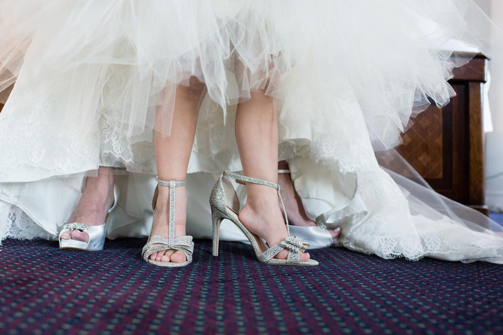Bride and niece shoes