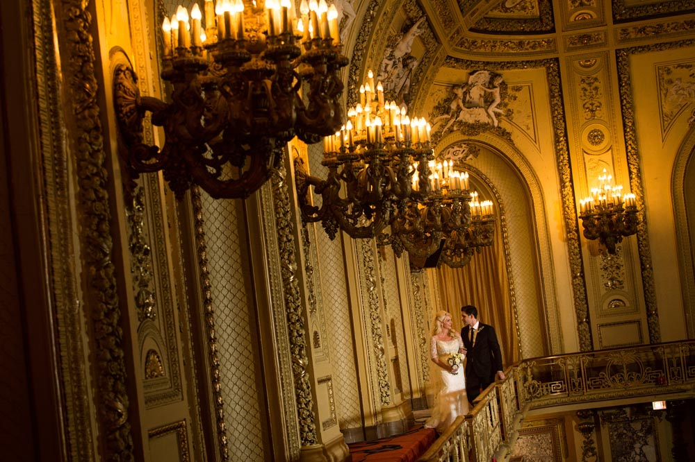 Wedding featuring Congress Hotel architecture