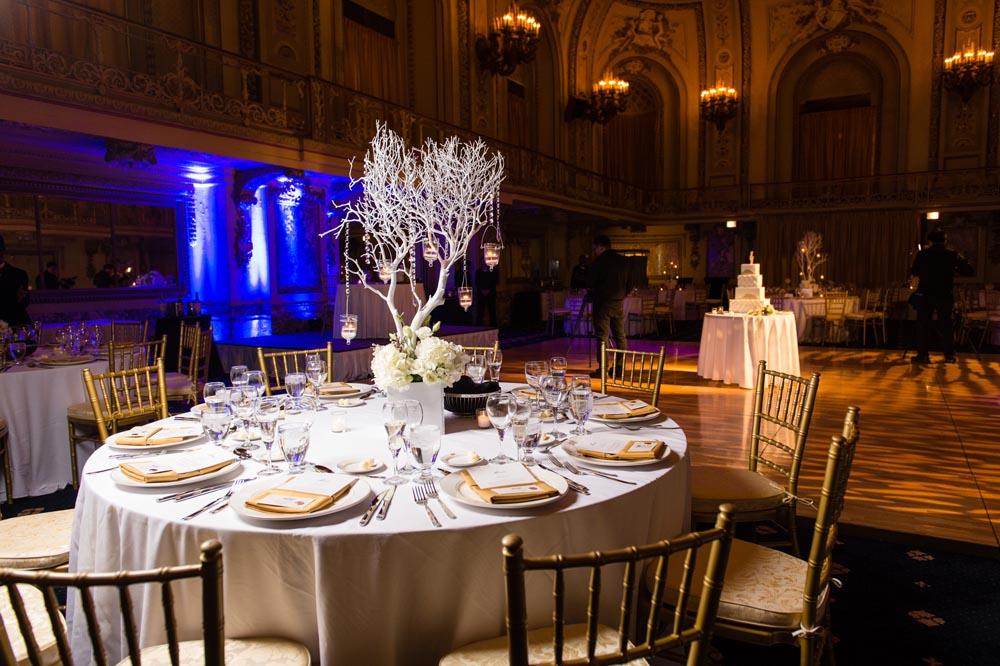 Congress Hotel reception table decore