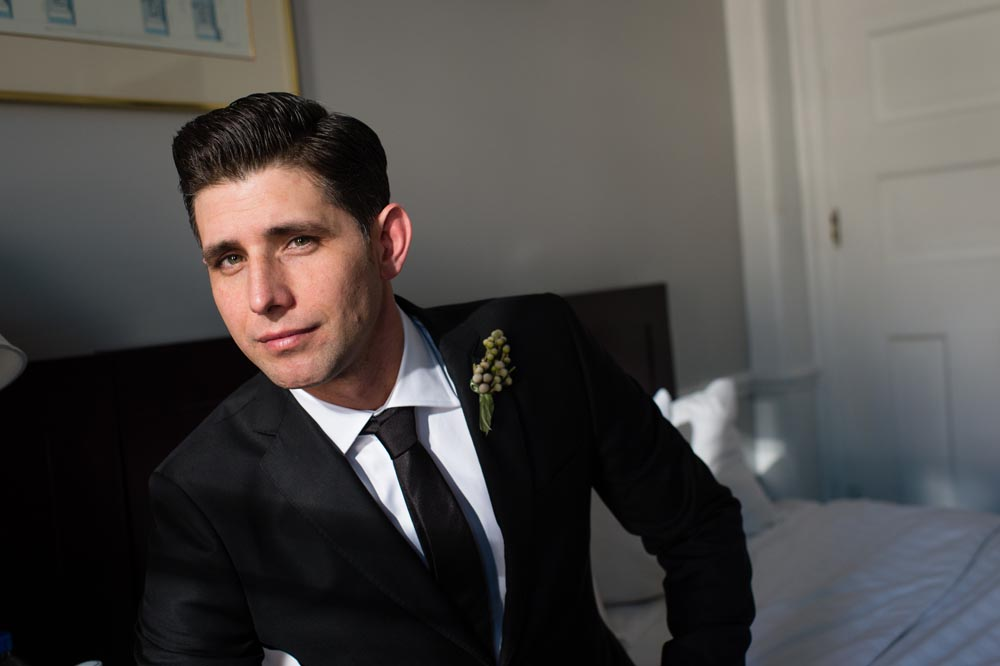 Groom portrait at Congress Hotel