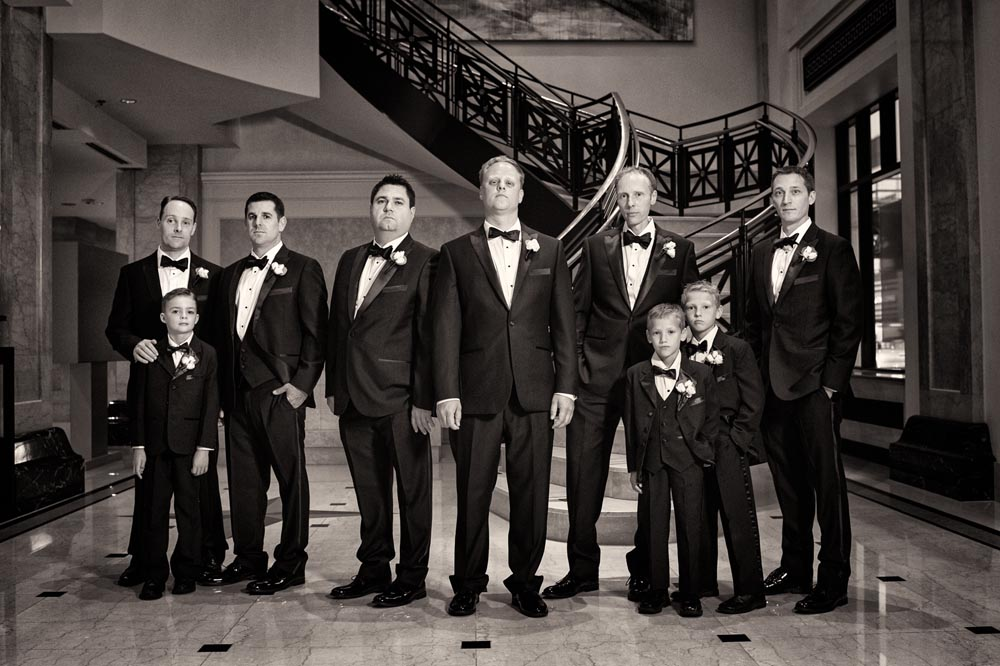 Groomsmen at jw marriott chicago
