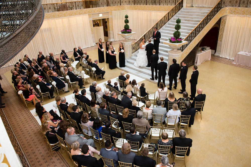 Staircase ceremony at The Rookery