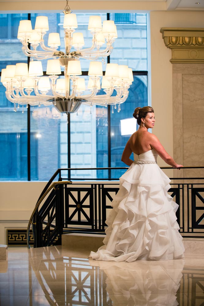 Bridal portrait at jw marriott chicago