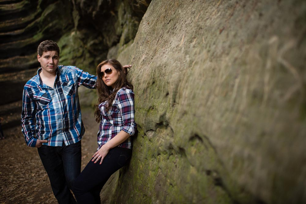 Starved Rock engagement portrait