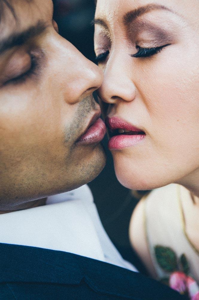 Closeup engagement portrait