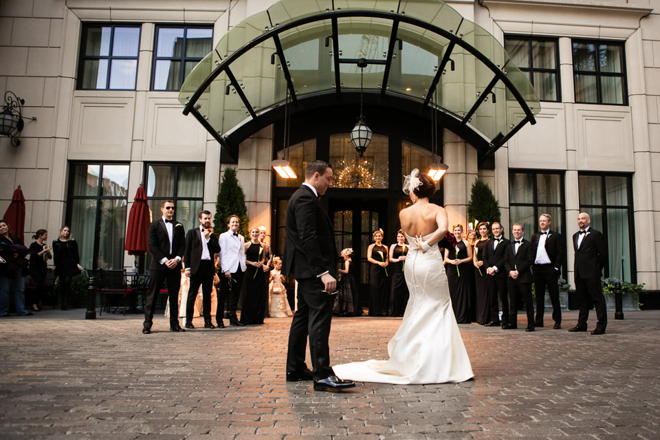 First wedding look at the Waldorf Astoria Chicago