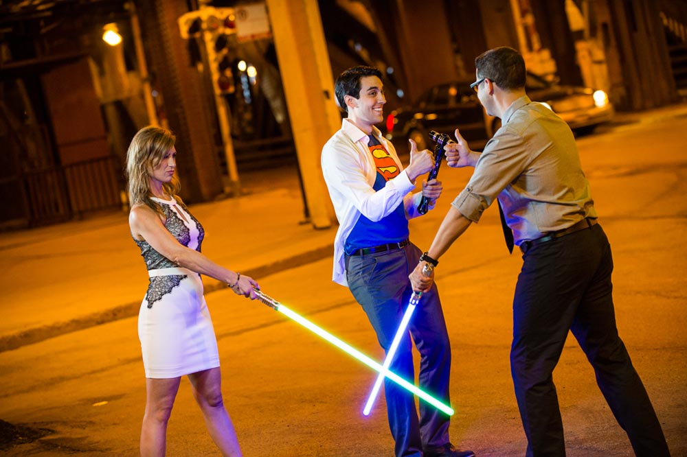 Superman brings a new light saber to save the day