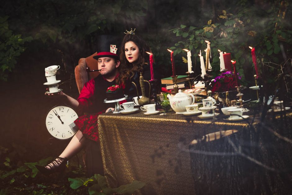 Alice In Wonderland Engagement Session