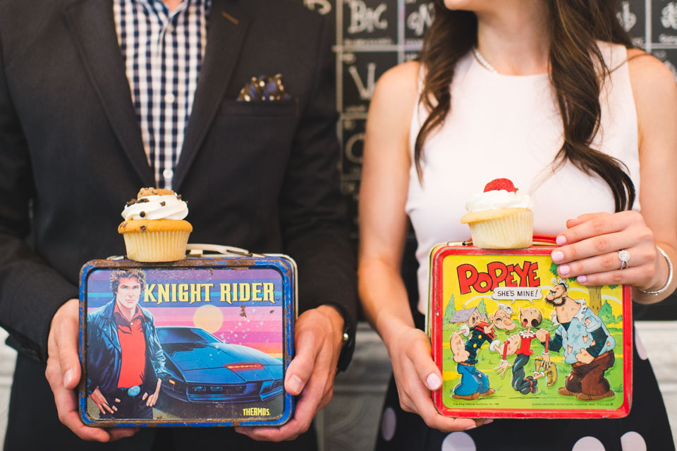 Knight rider and Popeye vintage metal lunch boxes