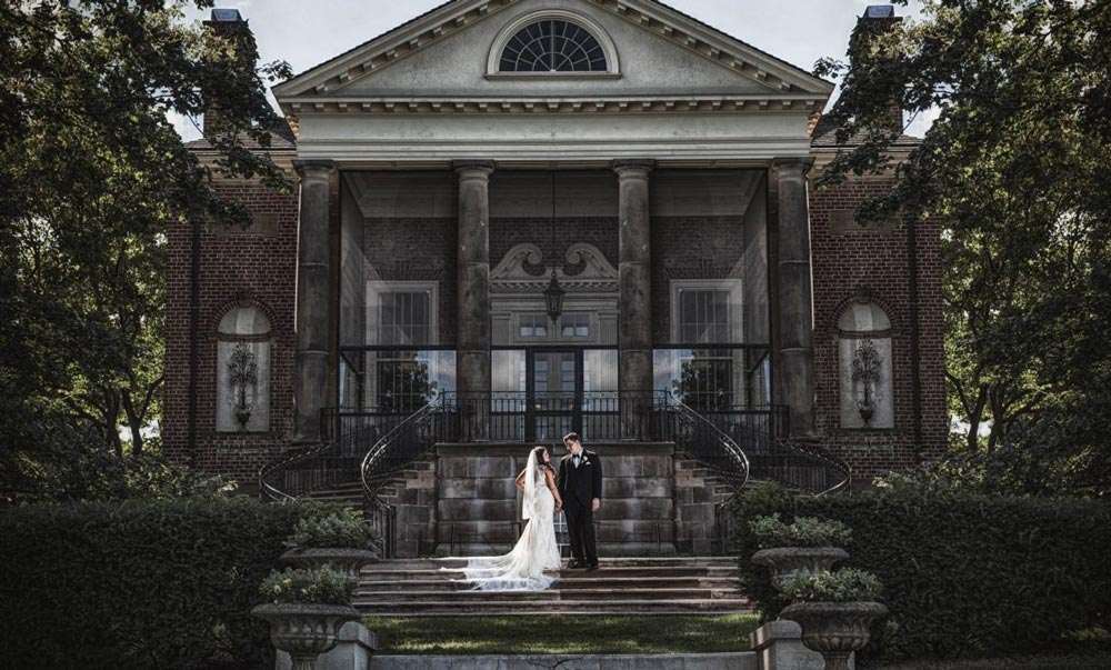 Fine art wedding portrait at Cantigny Park