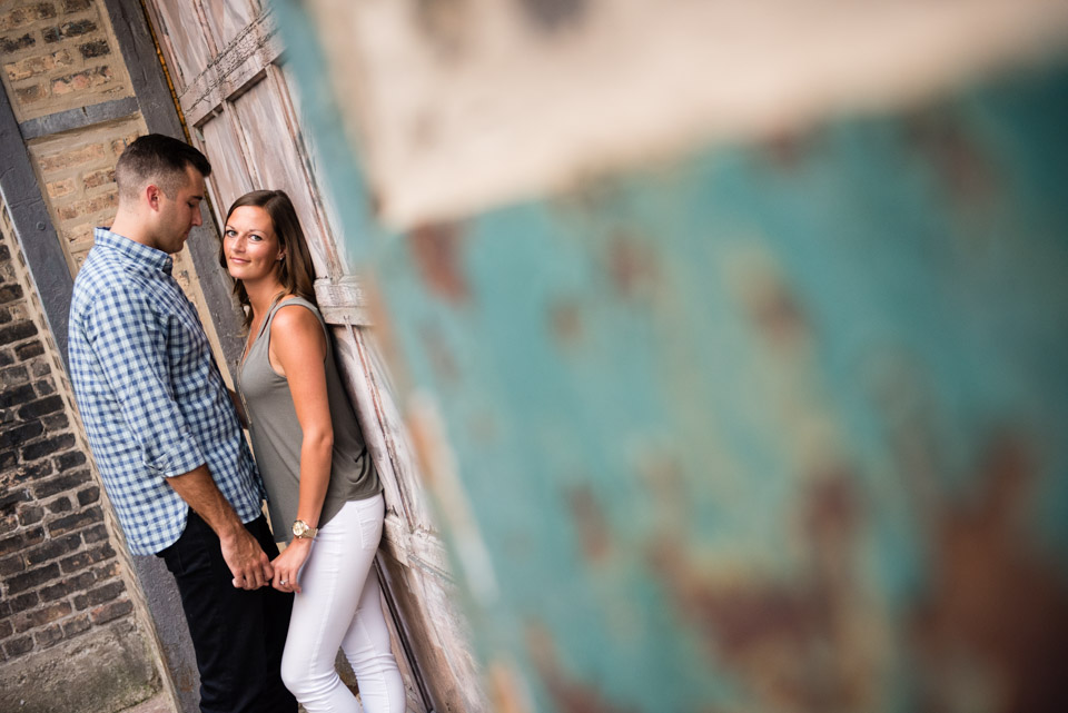 West Loop Chicago modern engagement