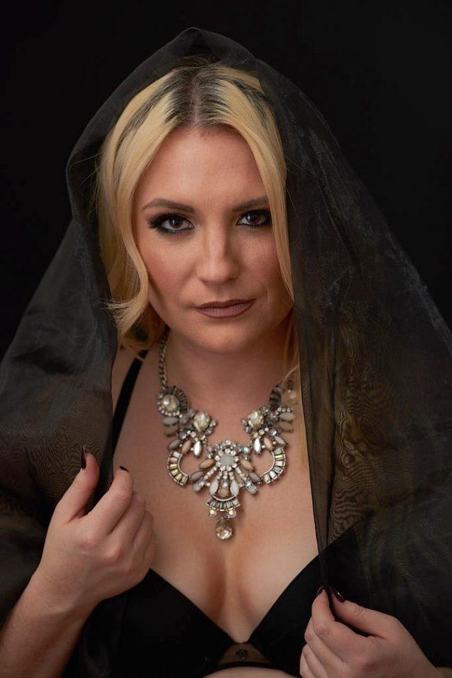 Veil glamour portrait