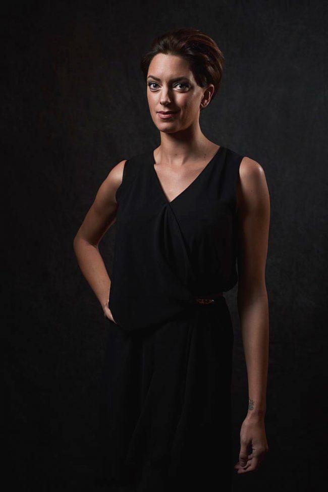 Little black dress glamour portrait