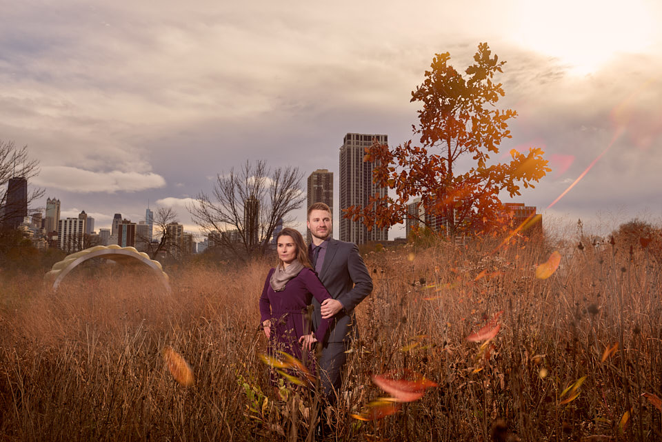 Engagement photography at South Pond Chicago