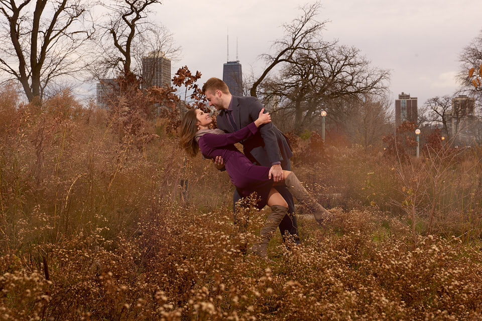 Chicago engagement photography at South Pond