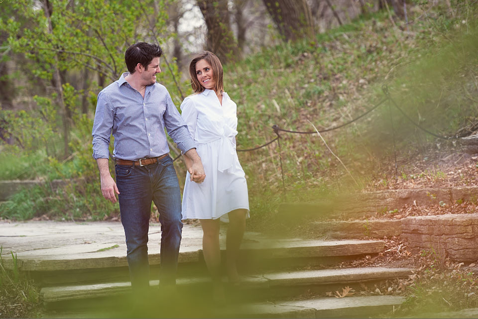 Alfred Caldwell Lily Pool engagement couple