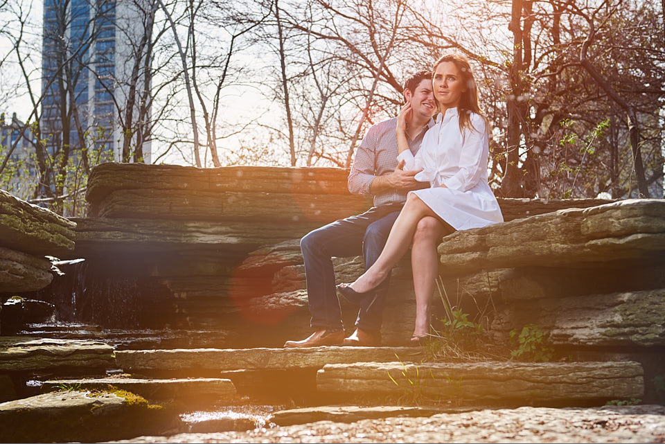 Engagement session at Alfred Caldwell Lily Pool