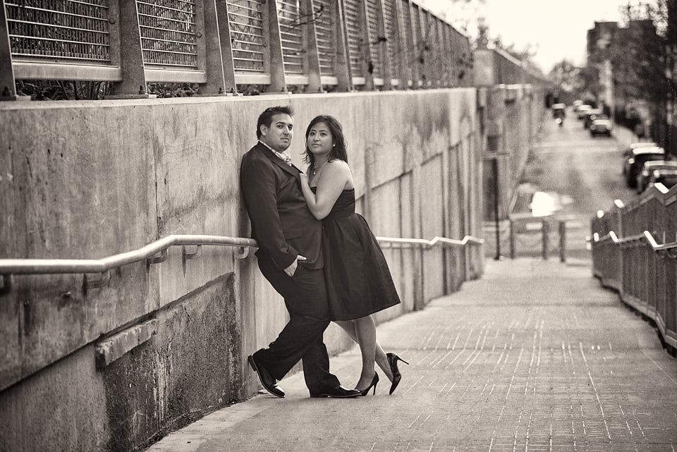 The 606 Chicago engagement portrait