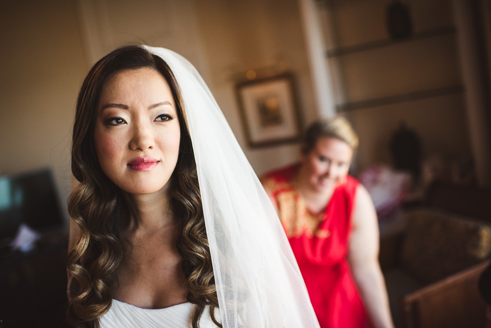 Bridal portrait at Drake Hotel
