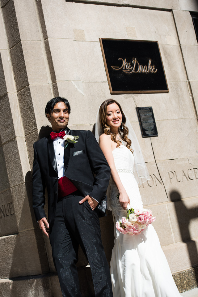 Drake Hotel wedding portrait