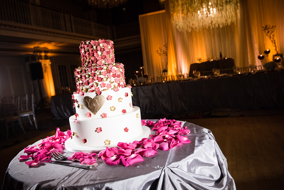 Four layer wedding cake