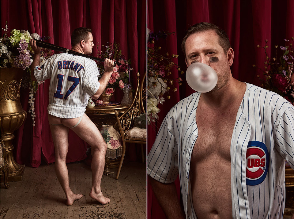Chicago Cubs dudoir with bubble gum