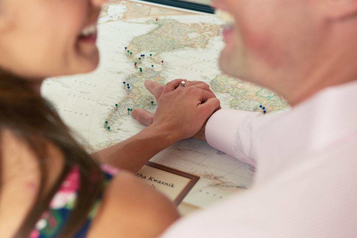 Destination engagement ring