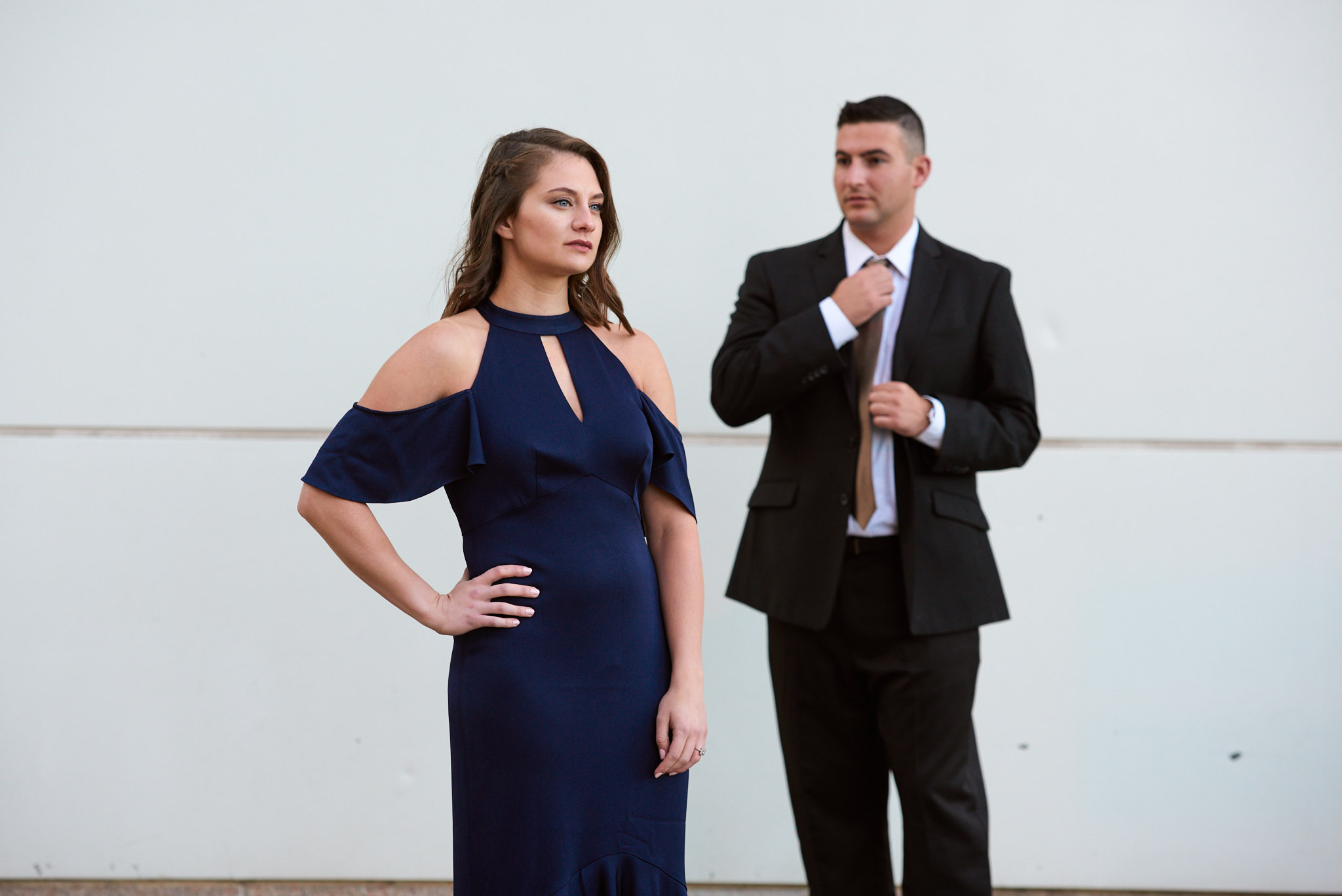 Formal engagement portrait