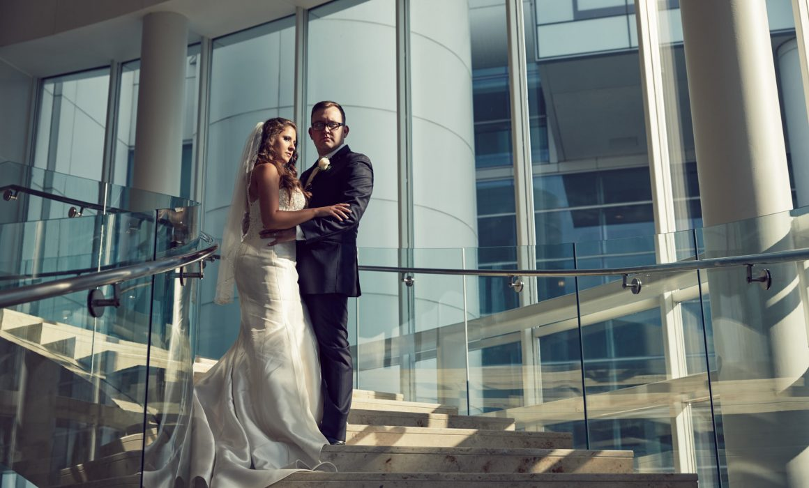Renaissance Schaumburg Hotel wedding portrait