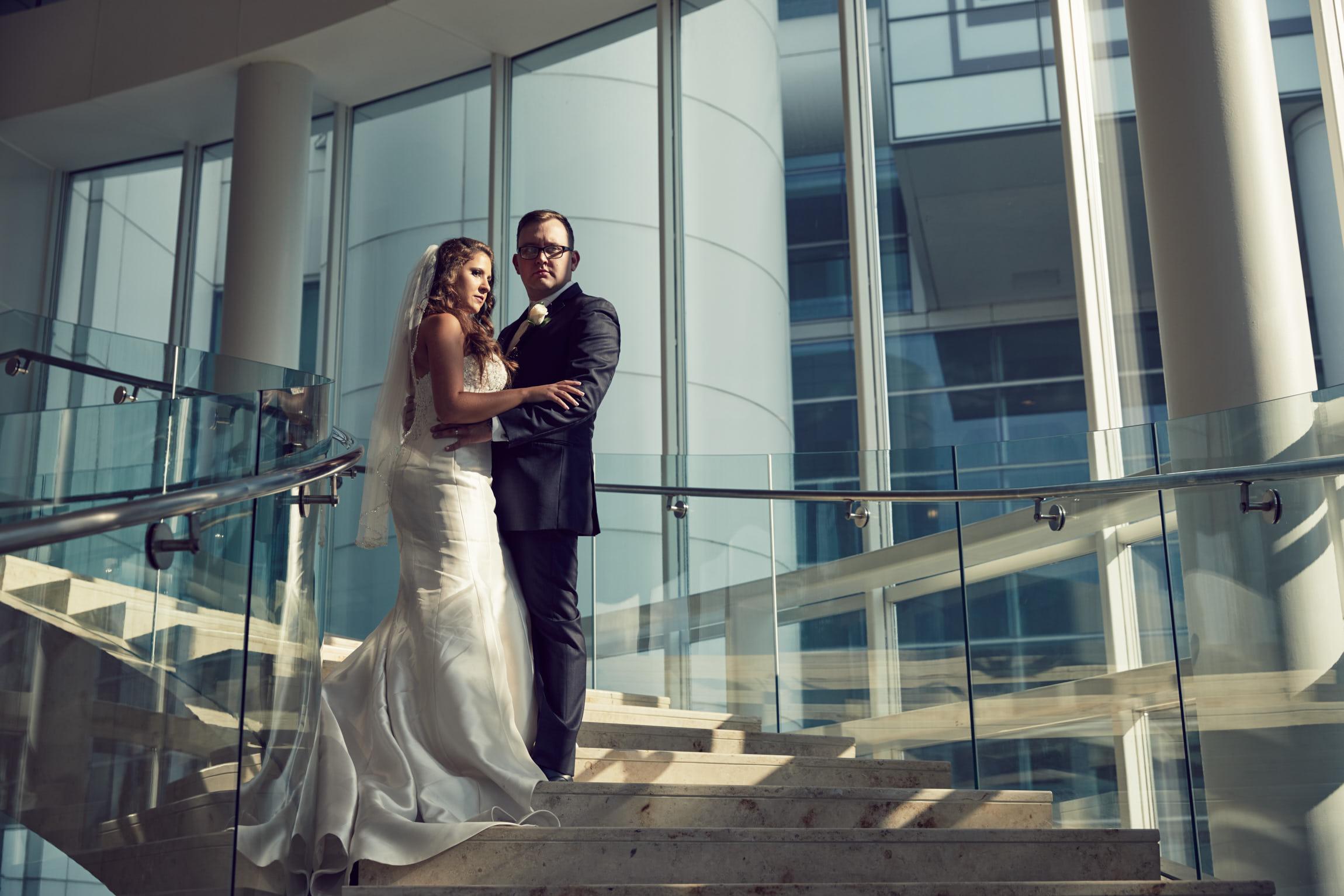 Renaissance Schaumburg Hotel wedding portrait