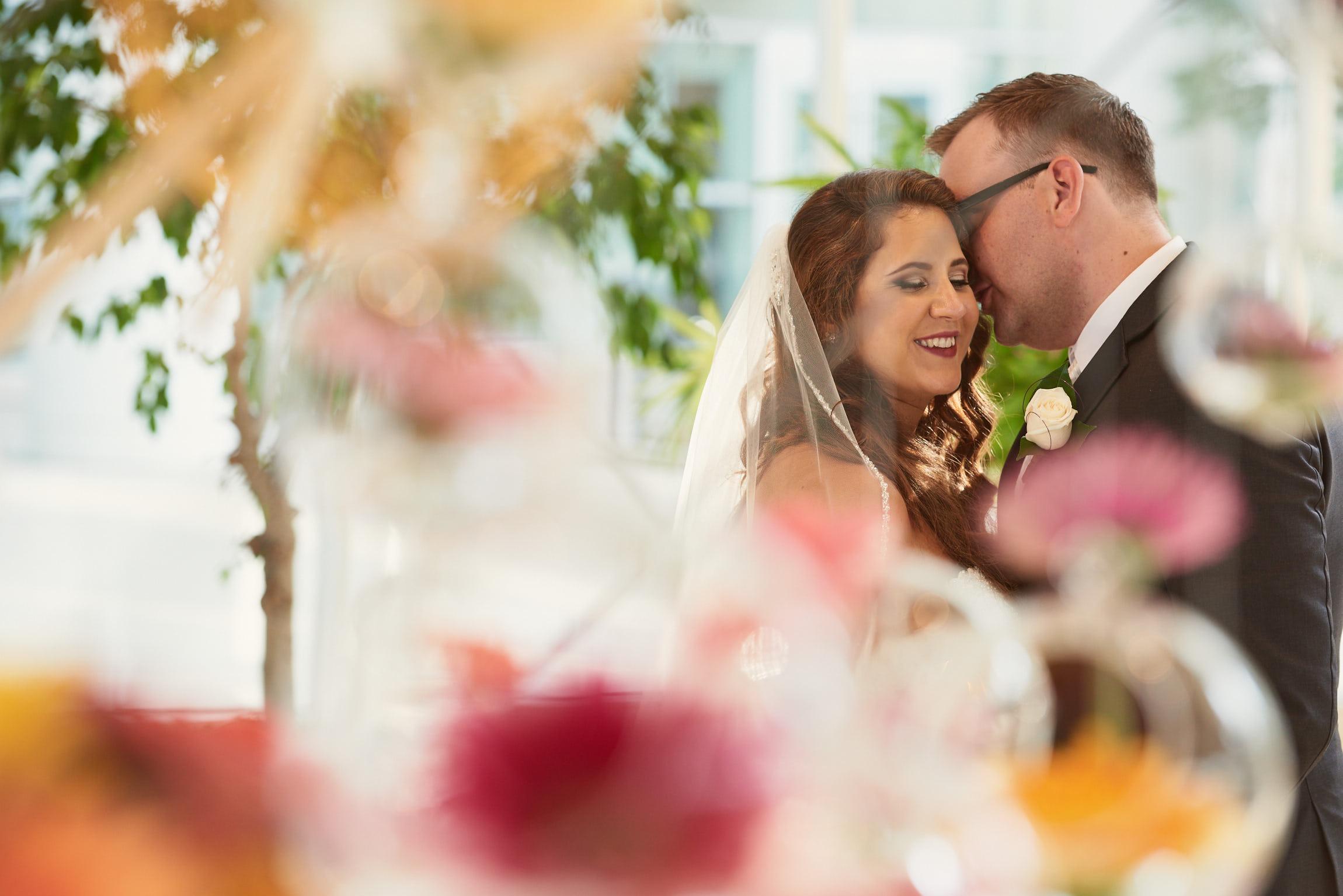 Bridal floral portrait