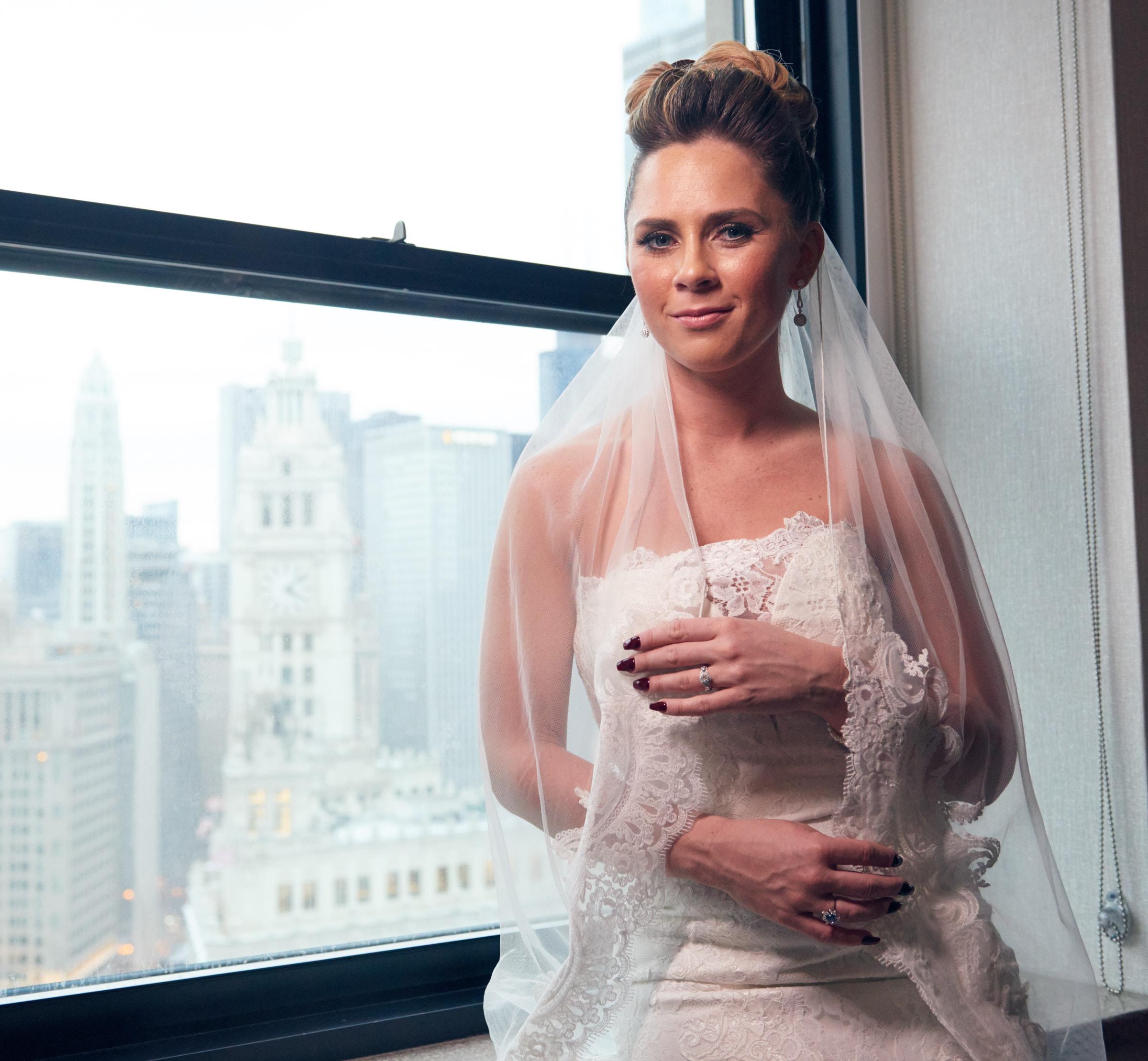 Bride portrait at Intercontinental Chicago