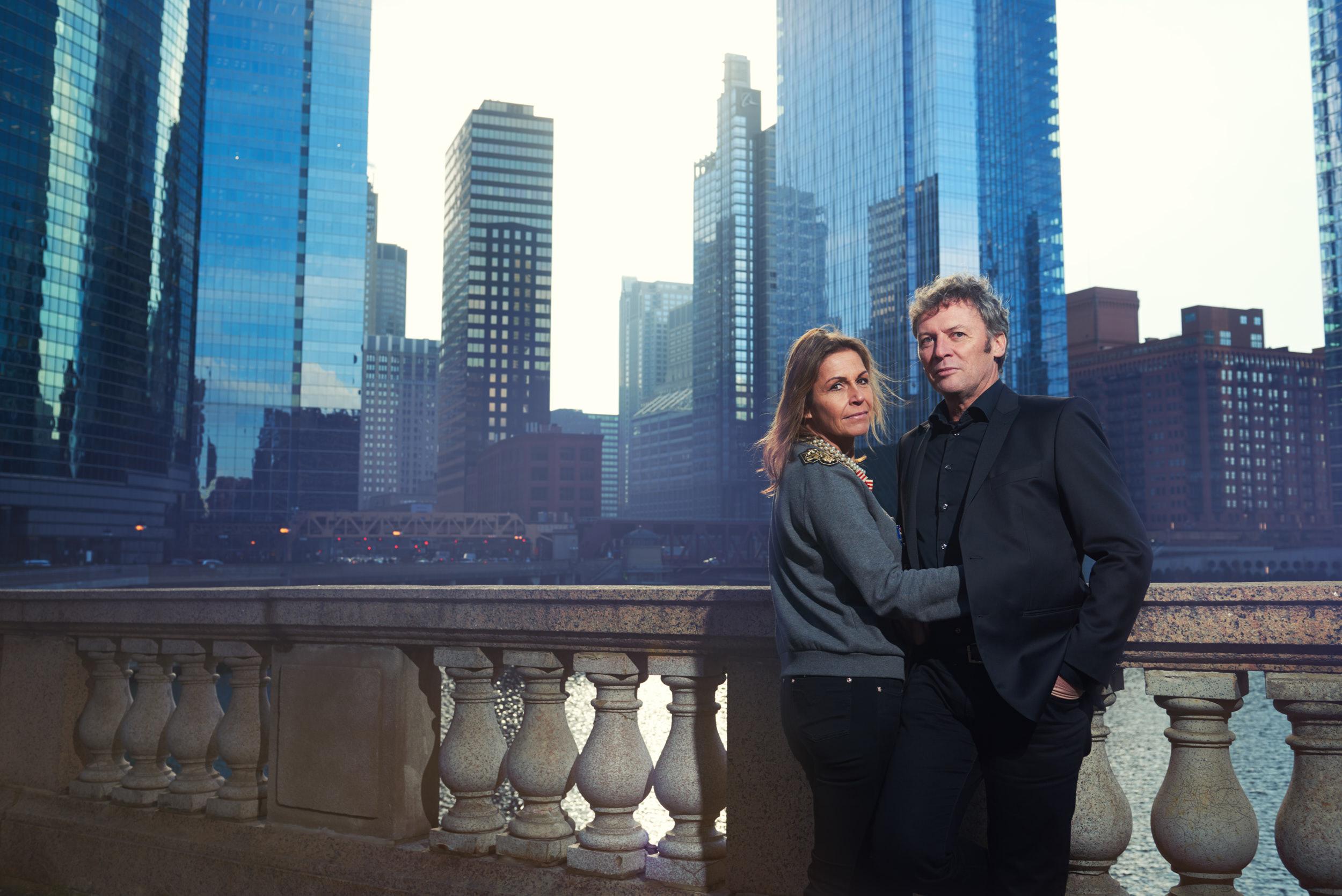 Chicago engagement portrait